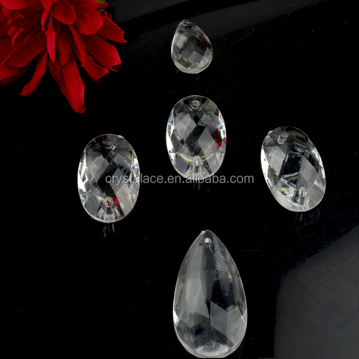 China Wholesale Decorative Plastic Crystals Clear Acrylic Chandelier Drops For Chandelier