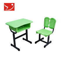 Single School Desk and Chair/School Furniture/Plastic table and chair