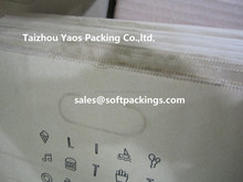 no plastic save earth care Patched Handle die cut kraft paper take away food bag