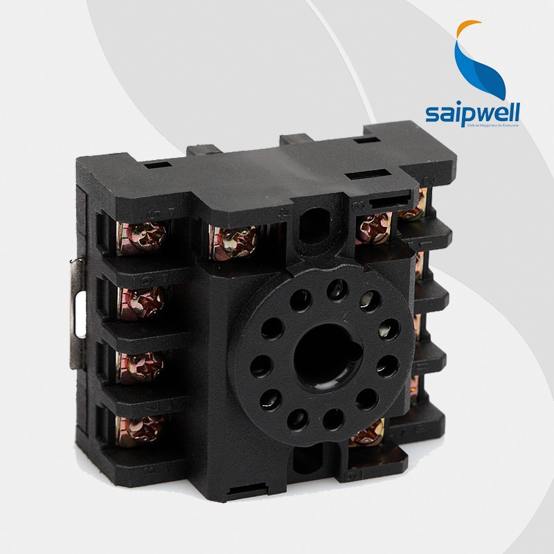 Saipwell Hot Sale Electrical Relay Socket 8 Pin Mounting Relay Socket 10F-3Z-C1(PF113A)