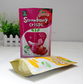 Food grade strawberry crisps food packaging plastic bag