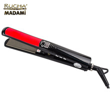 professional titanium lcd display PTC flat iron <strong>best</strong> protein <strong>hair</strong> <strong>straightener</strong>