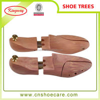 Custom Natural Wood Shoe Trees With Adjust Length and Width