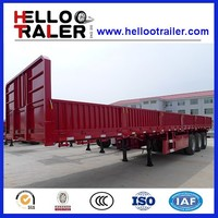 Chinese 3 axle 40T cargo truck trailer sidewall semi trailer