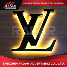 3D Outdoor Stainless Steel Halo Lit Illuminated LED Channel Letter Signs/Waterproof Custom Mirror Stainless Steel Halolit Letter