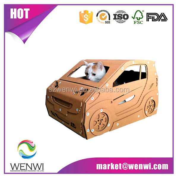 Hot selling well all over the world luxury cardboard cat house price