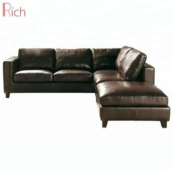 Dark Brown Leather Sectinal Sofa L- Shaped Italian Corner Sofa Set At Home,  View Corner sofa, Rich Product Details from Foshan Rich Furniture Co., ...