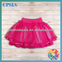 Wholesale! 0-12 Year Young Girls Pretty Red Tutu Skirts with White Dot Pattern Lovely Handmade Baby Kids Mini Skirt
