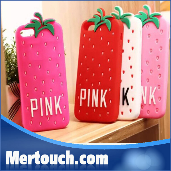 strawberry customized design for apple iphone 4 5 5s universal phone case cover wholesale