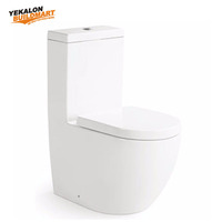 China Manufacturer Bathroom Sanitary Ware, Water System Toilet Custom Color Siphonic Wc Toilet, Washdown One Piece Toilet