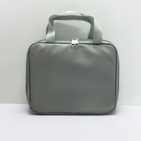 fashion trendy PVC leather cotton travel cosmetic bag