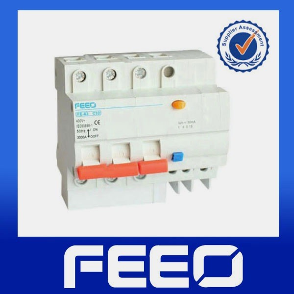 Low voltage RCCB Residual current RCBO earth leakage 3p 400v 32A ELCB