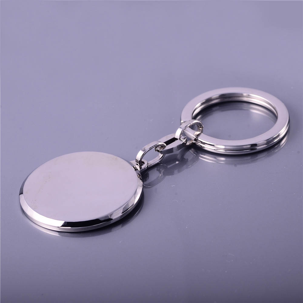 Round Blank Stainless Steel Metal customized Key Chains