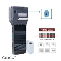 rugged handheld pda android mobile with thermal printer 3G wifi barcode scanner CE