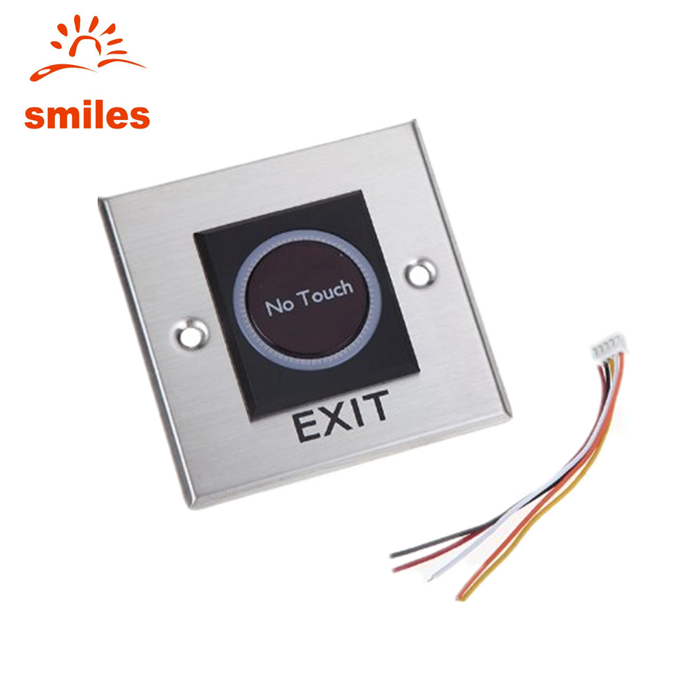 Factory Price 12V Non Touch Door Exit Release Button Infrared Light Switch With Square Type