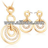 18k Real Gold Plated Rhinestone Jewellery