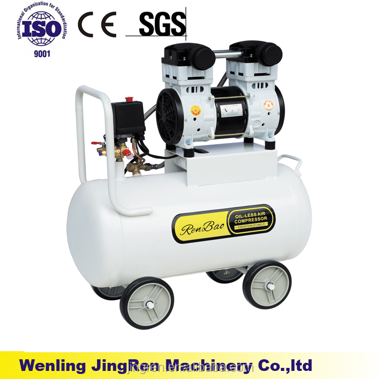 compressor portable silent oil-free AC piston air compressor wenling compressors