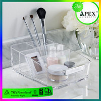 clear acrylic cosmetics holder makeup display rack lip gloss eyebrow pencil eye shadow cube multiholes organizer