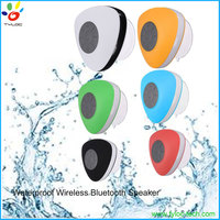 Fashion design suction cup IPX4 shower waterproof bluetooth speaker