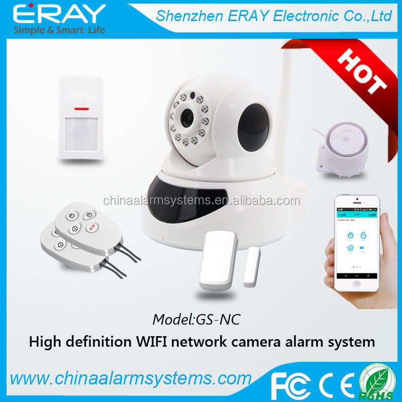PTZ full rotate battery operated wireless security ip camera with wifi detector