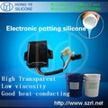 Electronic potting compound silicone rubber for LED bulb
