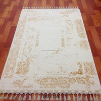 white handmade wool and silk blend tabriz carpet belgium carpets and rugs