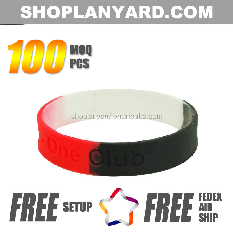 New Product Silicone Rubber Wristbands for Parties