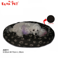 Hot sale high quality beautiful pet round cushion dog bed dog blanket bed for dog
