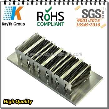 High quality customized copper heat pipe heat sink