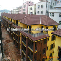 Red color stone coated metal roof tiles with reasonable price