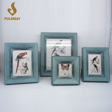 Chinese Style Wood Carved Picture Frames Desktop Photo Frame Set