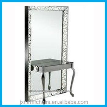 Salon Mirror Station Stainless Steel Salon Mirror Salon
