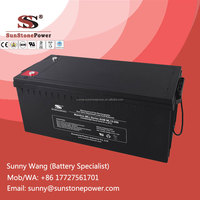 China manufacturer Maintenance Free lead acid deep cycle AGM battery 12v 200ah backup battery for solar