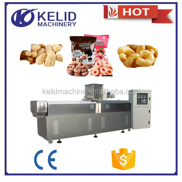 full automatic CE certificate corn and rice puff products application extruder machine