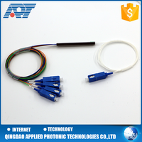 Hot sale steel tube type Fiber Optic 4 way PLC Splitter with good price from China professional factory