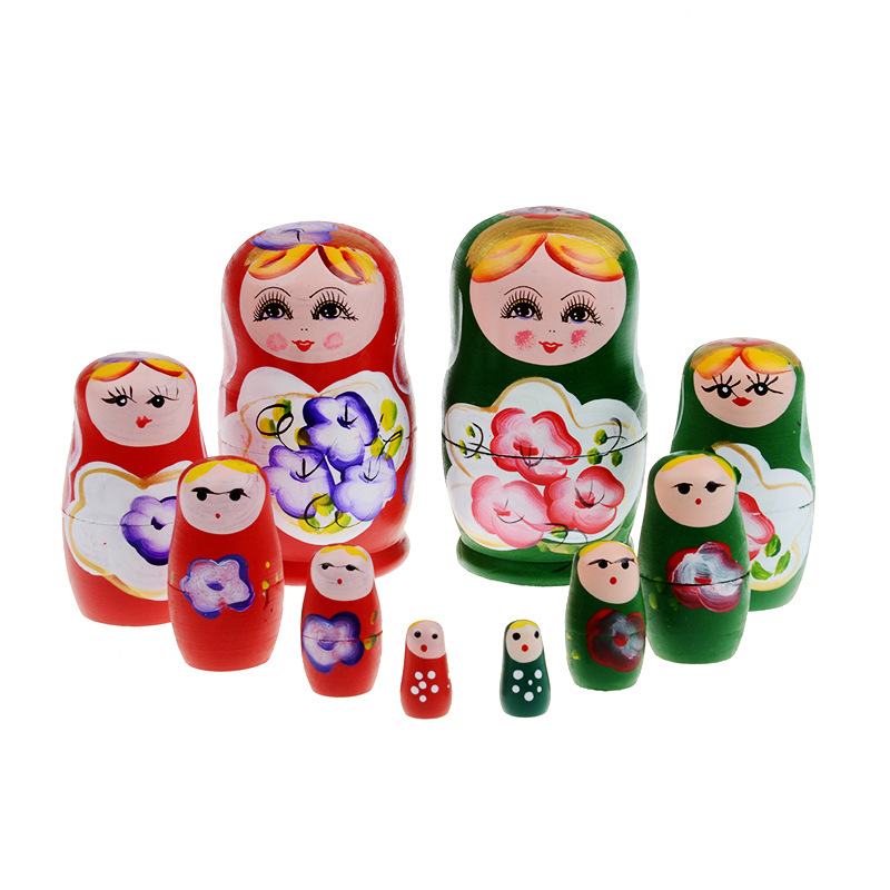 Traditional Folk Crafts Funny Cheap Gifts Matryoshka Russian Dolls Wood