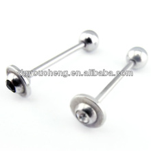 Stainless steel personalized tongue jewelry piercing tongue ring
