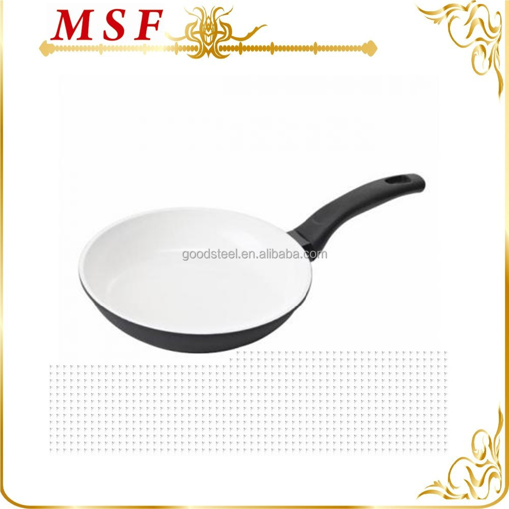 ceramics coated forged aluminum deep fry pan with induction bottom