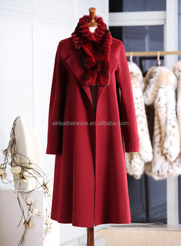Womens Winter 100% Pure Cashmere Trench Coats