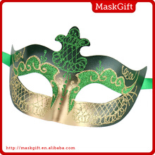 High qualtiy plastic green venetian mask party mask for sale