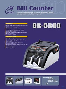 Duplicate currency notes counting machine GR-5800