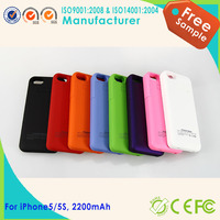 2015 new promotional power bank backup battery case for iphone5 5s