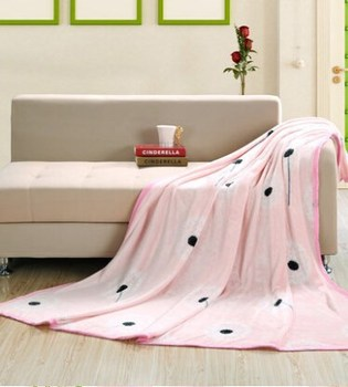 2015 New Printed 100% polyester flannel fleece blanket