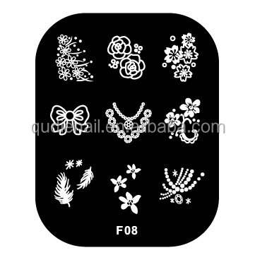 2016 free sample hot sale stainless steel custom nail art hot foil stamping plates