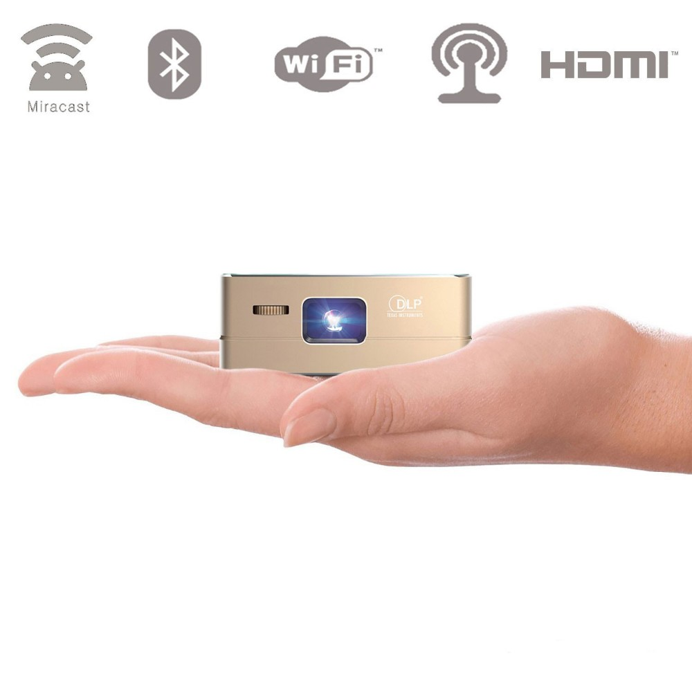 "Pico DLP High-Res Mobile <strong>Projector</strong>- 120"" Display, 30,000 Hour LED, Mini-HDMI, 120 Minutes Battery Life, Pocket Size Home Cinema"