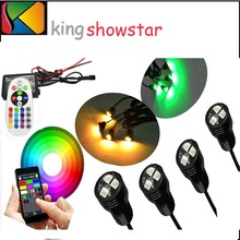 4pcs 9W 12V Underwater 1000LM Waterproof IP68 Fountain Led wimming Pool Lights
