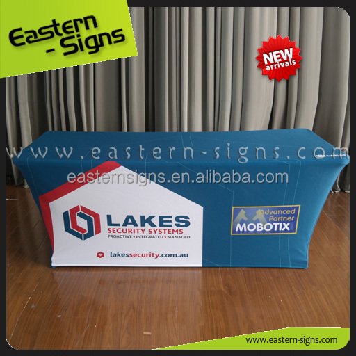 Custom Logo Table Throw Printed Expo Spandex Table Cover