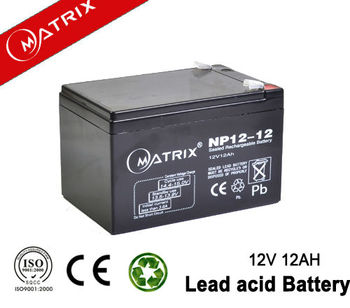Long lifespan 12v 12ah wheel chair battery agm