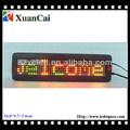 Single line P7.62-7x40 indoor programed LED signs prices
