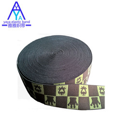 Jacquard knitted elastic band